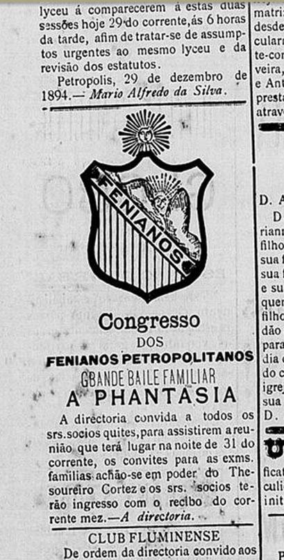 Gazeta de Petrópolis, 29/12/1894 - Fonte: Biblioteca Nacional