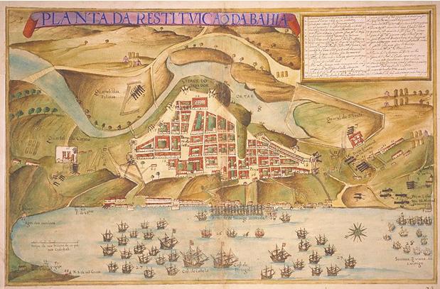 Mapa de Salvador 1631 – Teixeira Albernaz
