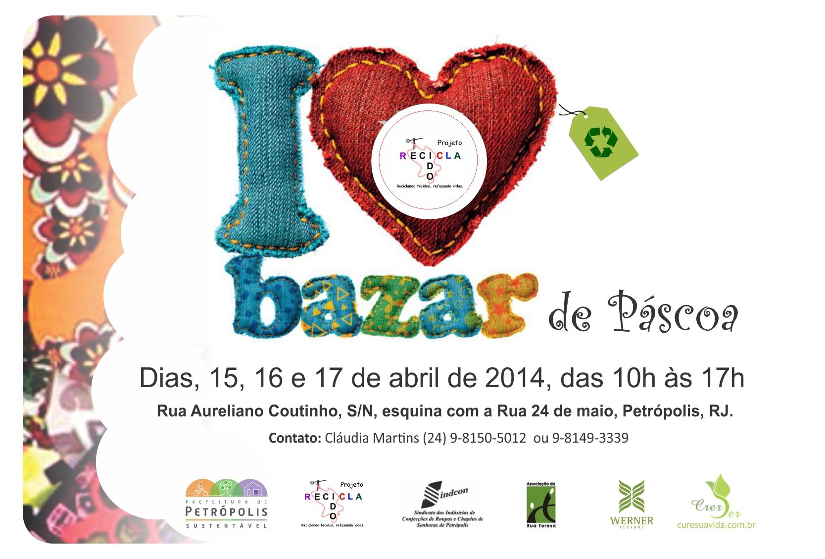 Convite Bazar De Páscoarecicla Tecido Aep