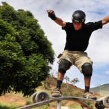 Trilhas do Olimpo abriga brasileiro de Mountain Board
