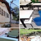 15 escolas vistoriadas apresentam infiltrações e falta de conservação