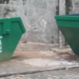 80 novas caçambas de lixo estão sendo instaladas na cidade