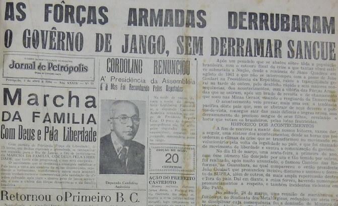 [Coluna] Os idos de Abril de 1964 em Petrópolis